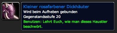 Kleiner rosafarbener Dickhäuter - Gegenstand - World of Warcraft