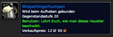 Wolpertingerhumpen - Gegenstand - World of Warcraft