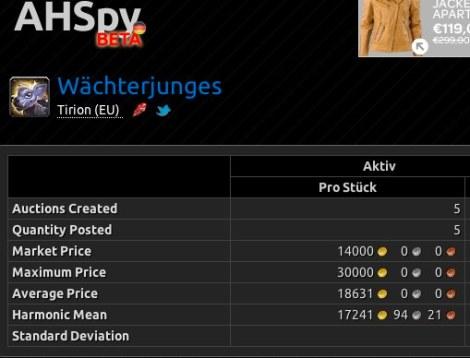 Wächterjunges - Tirion (EU) - AHSpy